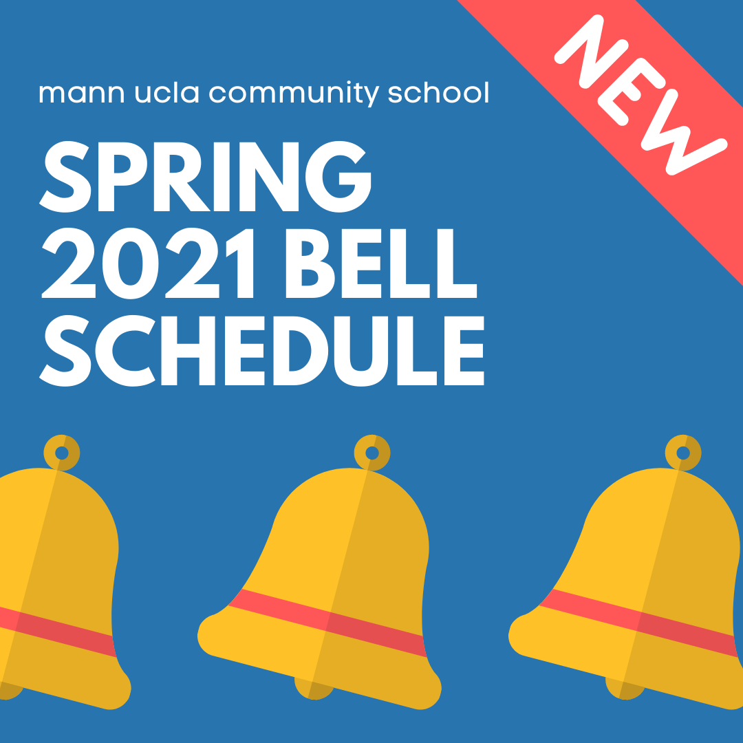 New Bell Schedule, starting Tuesday April 27